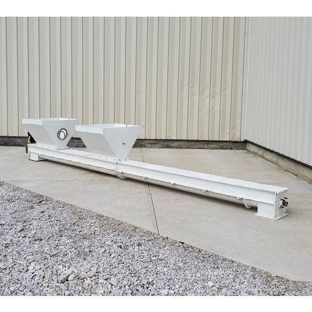 Image 9in Dia. X 20ftL Drop-Bottom U-Trough Screw Conveyor 1475060