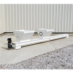 Image 9in Dia. X 20ftL Drop-Bottom U-Trough Screw Conveyor 1475061
