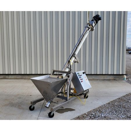 Image HAPMAN Series 400 Helix Flexible Screw Auger Conveyor - 3in Dia. X 12ft Long   1475089