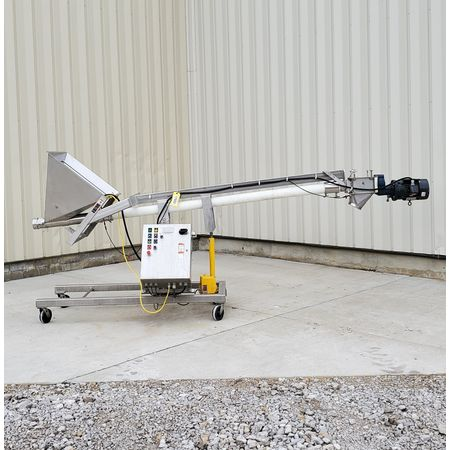 Image HAPMAN Series 400 Helix Flexible Screw Auger Conveyor - 3in Dia. X 12ft Long   1475091