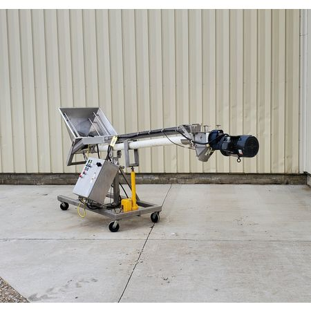 Image HAPMAN Series 400 Helix Flexible Screw Auger Conveyor - 3in Dia. X 12ft Long   1475092