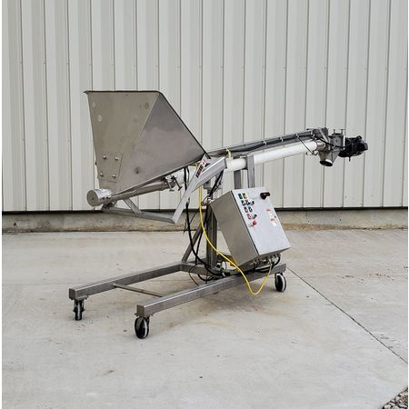 Image HAPMAN Series 400 Helix Flexible Screw Auger Conveyor - 3in Dia. X 12ft Long   1475093