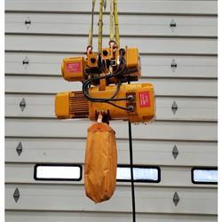 Image 2 Ton HARRINGTON Hoist with Trolley - 14 ft/min 1475095