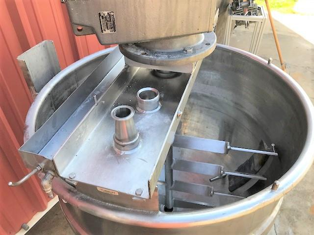 Image 100 Gallon MUELLER Jacketed Scrape Single Motion Mixing Kettle - Food Grade, Stainless Steel  1475124