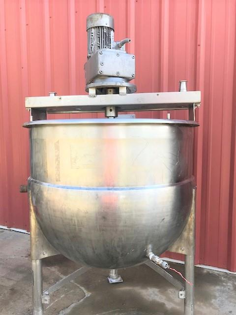 Image 100 Gallon MUELLER Jacketed Scrape Single Motion Mixing Kettle - Food Grade, Stainless Steel  1475125