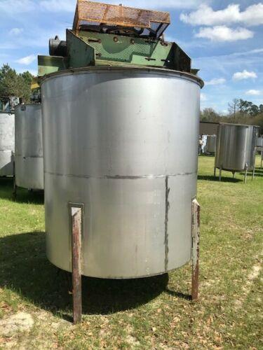 Image 1200 Gallon Dual Speed Agitation Mix Vertical Tank - Stainless Steel 1475131