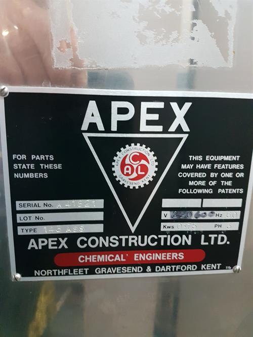 Image APEX 143ASS Oscillating Granulator - Stainless Steel 1479602