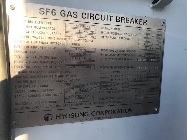 Image HICO SF6 Substation 115KV Circuit Breakers 1480954