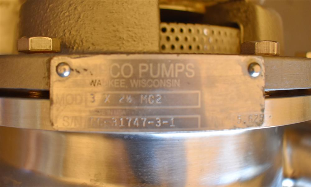 Image AMPCO 3x2.5 MC2 Centrifugal Pump 1486477