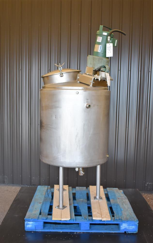Image 100 Gallon HIGHLAND Jacketed Tank with LIGHTNIN Mixer 1486484