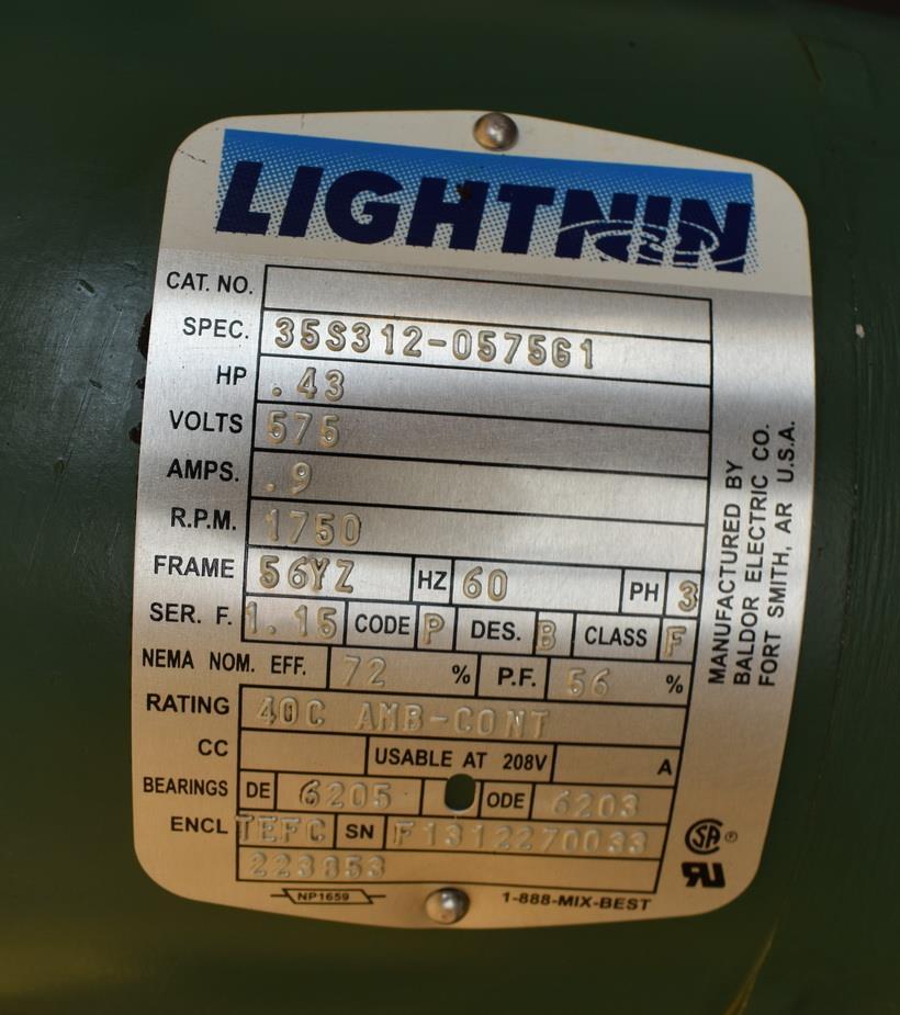 Image 100 Gallon HIGHLAND Jacketed Tank with LIGHTNIN Mixer 1486496