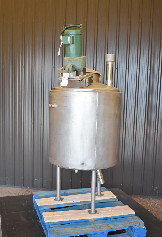 Image 100 Gallon HIGHLAND Jacketed Tank with LIGHTNIN Mixer 1486485