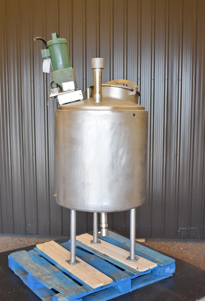 Image 100 Gallon HIGHLAND Jacketed Tank with LIGHTNIN Mixer 1486486