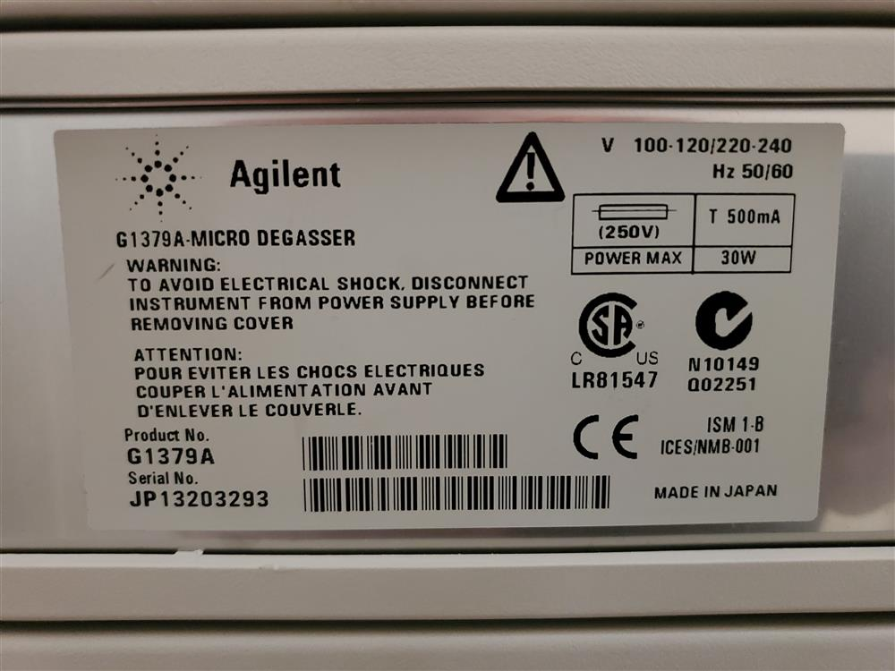 Image AGILENT 1100 Series Binary Pump with Micro Degasser and 2 Trays  1490654