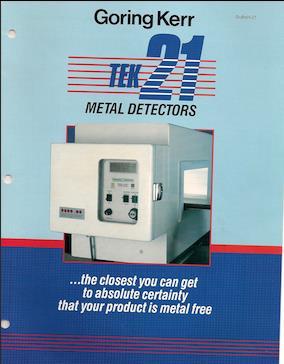 Image GORING KERR Tek 21 Metal Detector - 4in Height X 14in Wide Aperature 1491562