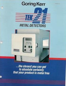 Image GORING KERR Tek 21 Metal Detector - 4in Height X 14in Wide Aperture 1540724