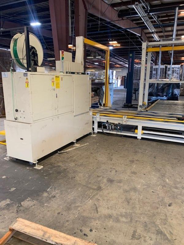 Image Auto 4 Way Pallet Strapping Machine with Hydraulic Plate for Platform 1492666
