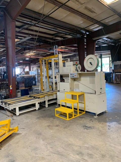 Image Auto 4 Way Pallet Strapping Machine with Hydraulic Plate for Platform 1492667