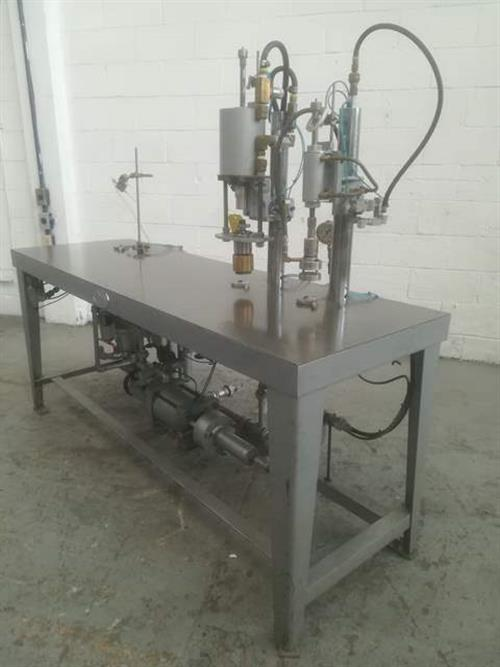 Image J.G. MACHINE WORKS Semi-Automatic Aerosol Filling Line 1492691
