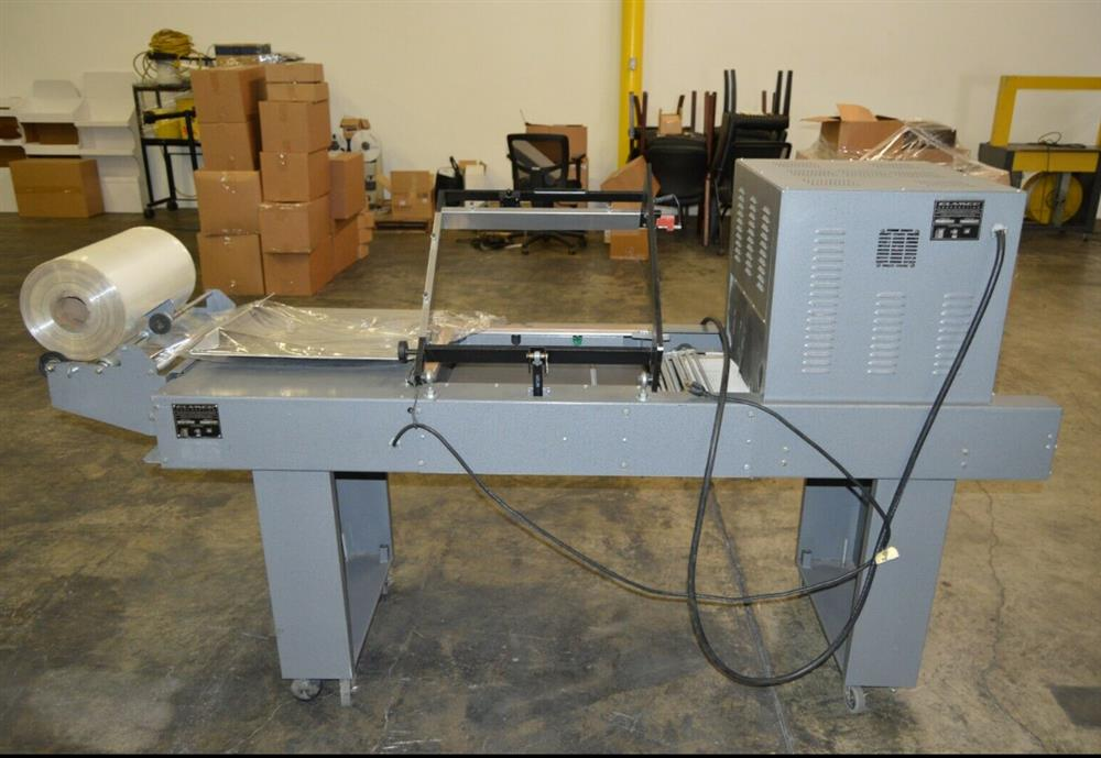 Image CLAMCO 772-20 L-Bar Shrink Wrap Sealer and CLAMCO 851 Heat Tunnel 1492743
