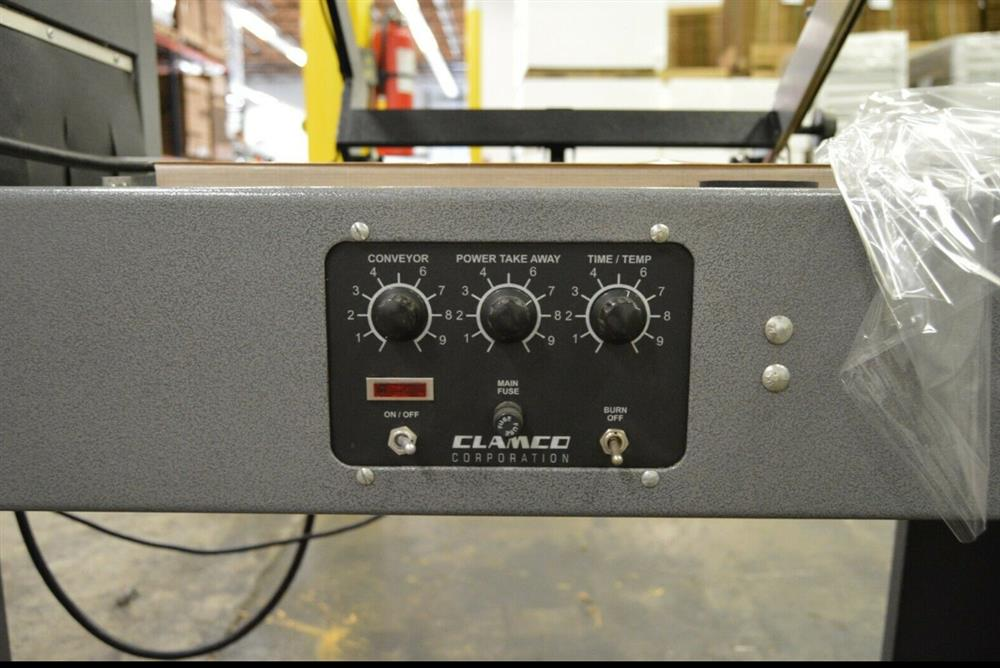 Image CLAMCO 772-20 L-Bar Shrink Wrap Sealer and CLAMCO 851 Heat Tunnel 1492745