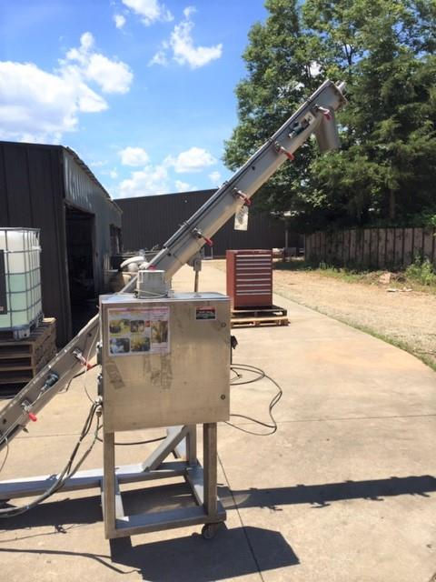 Image 6in Diameter X 10ft Long ALL FILL Portable Incline Screw Conveyor - Stainless Steel 1492748