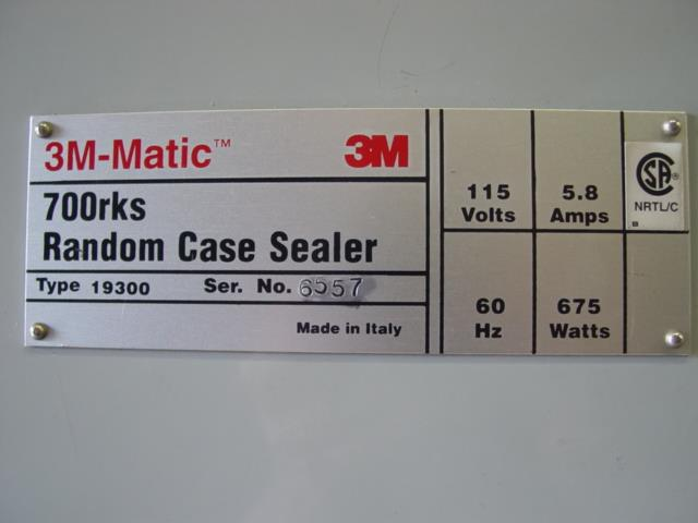 Image 3M 700RKS Random Case Sealer 1492825