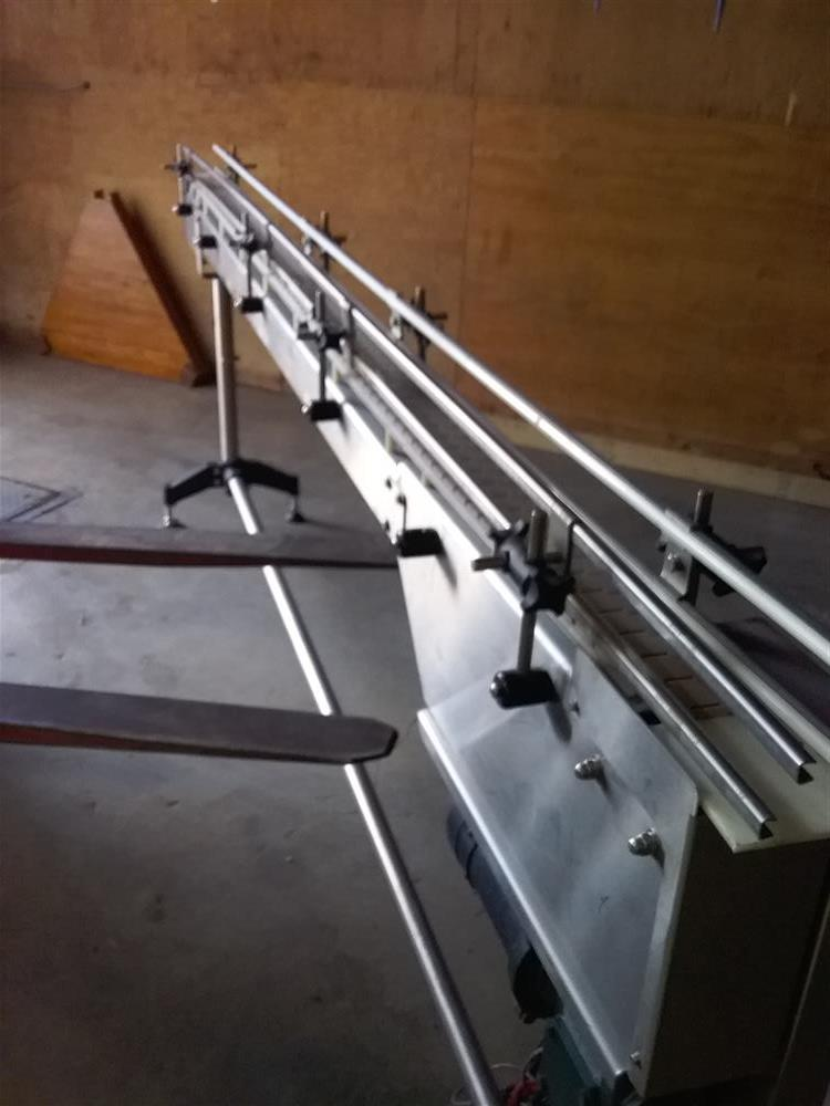 Image 10ft Stainless Steel Sanitary Conveyor with Railings 1492939