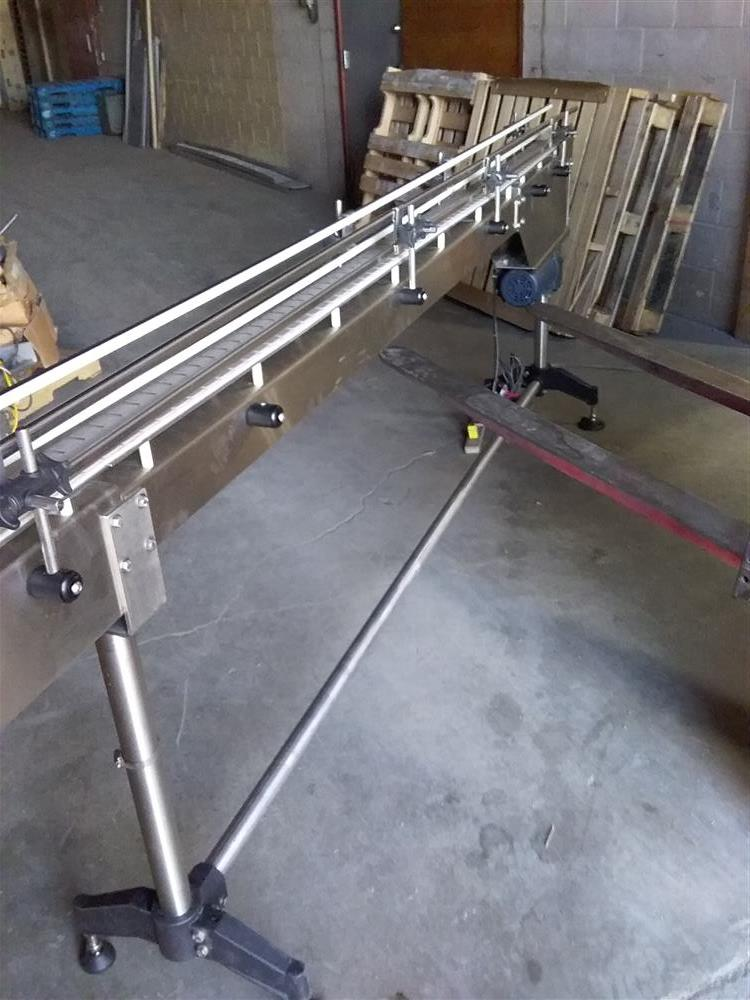 Image 10ft Stainless Steel Sanitary Conveyor with Railings 1492940