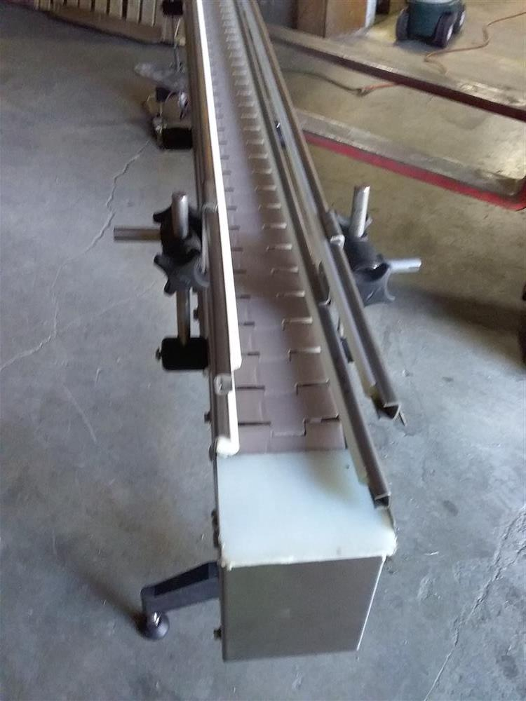 Image 10ft Stainless Steel Sanitary Conveyor with Railings 1492941