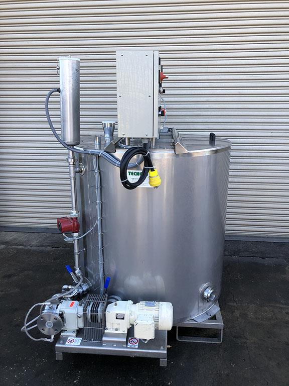 Image 230 Gallon TECHNO Batch Processor Mix Tank with PD Pump - Stainless Steel 1493214