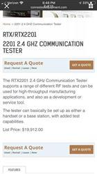 Image RTX 2201 2.4GHz Communication Tester 1493738