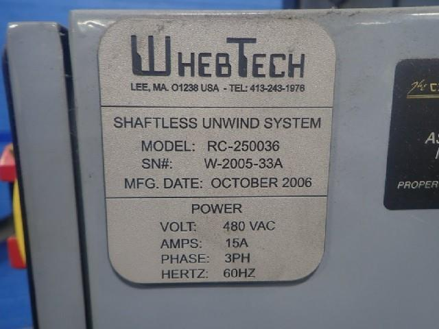Image 60in WHEBTECH Shaftless Floor Pick Up Unwind Stand 1495524