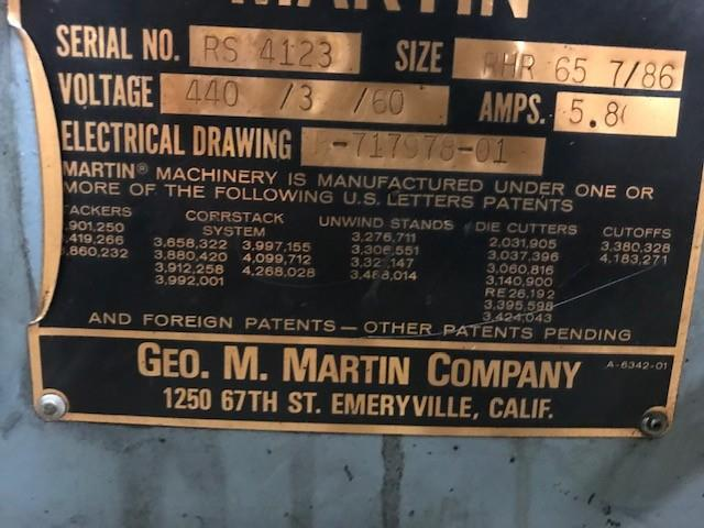 Image 65in Wide MARTIN Shaftless Floor Pick Up Unwind Stand 1495538