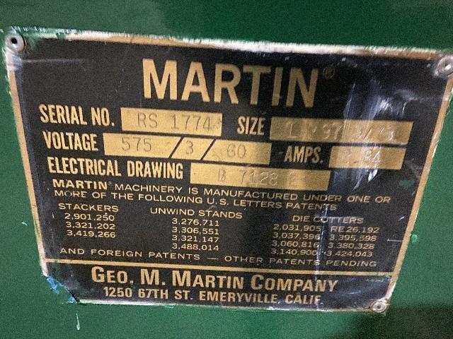 Image 100in MARTIN Shaftless Floor Pickup Unwind Stand 1495565