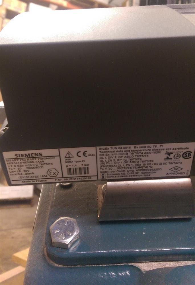 Image 6in DEZURIK VPB V-Port Ball Valve w/Diaphragm Actuator & HART Positioner - New Surplus 1495595