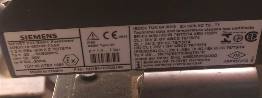 Image 6in DEZURIK VPB V-Port Ball Valve w/Diaphragm Actuator & HART Positioner - New Surplus 1495596