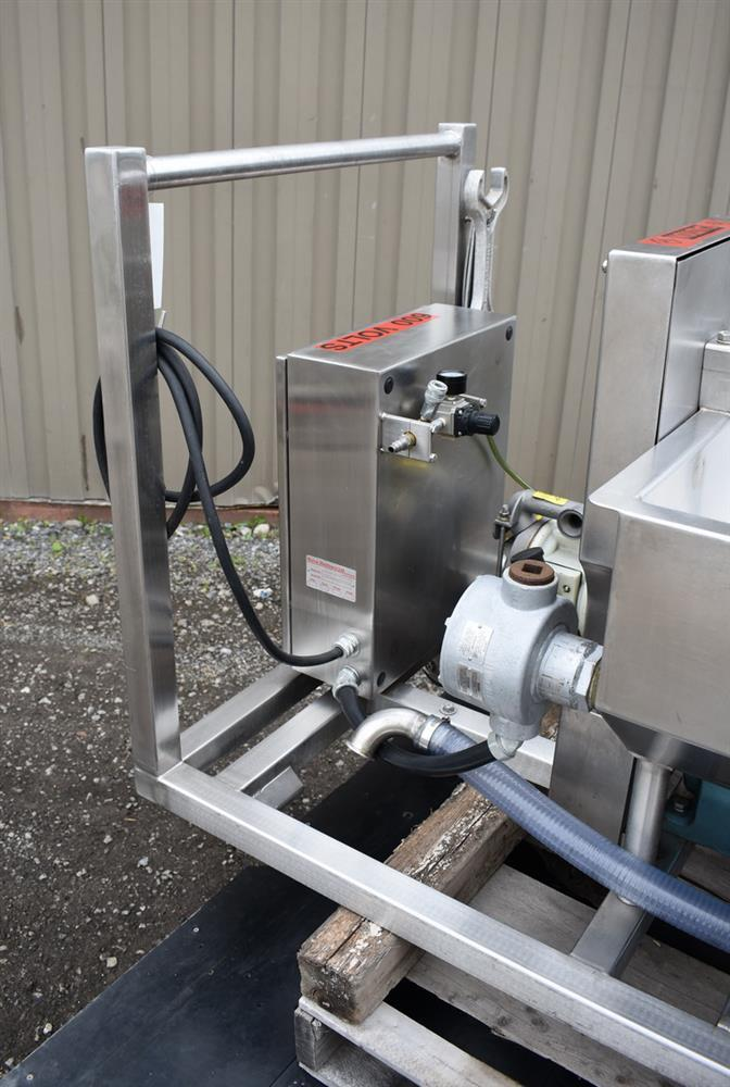Image 50 Gallon MOLINE Jacketed Tank with Agitator, Diaphragm Pump and Immersion Heaters 1495633