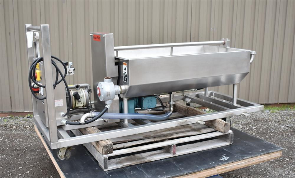 Image 50 Gallon MOLINE Jacketed Tank with Agitator, Diaphragm Pump and Immersion Heaters 1495635