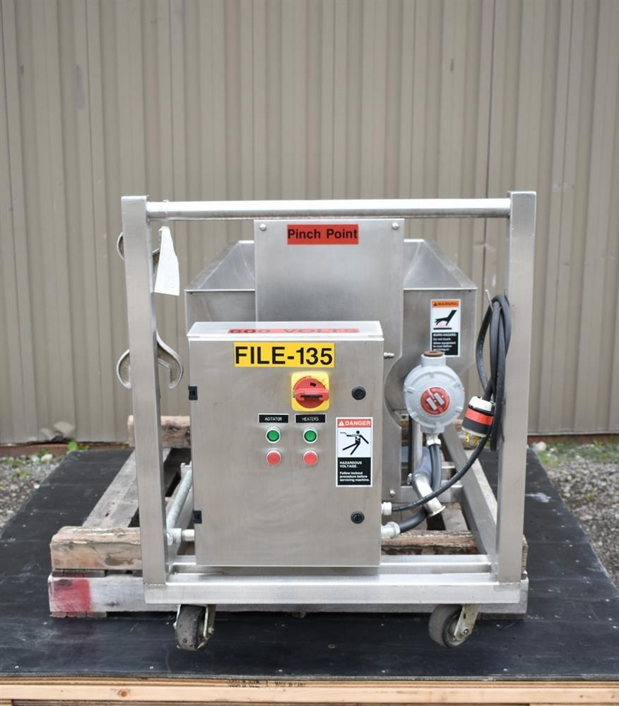 Image 50 Gallon MOLINE Jacketed Tank with Agitator, Diaphragm Pump and Immersion Heaters 1495639