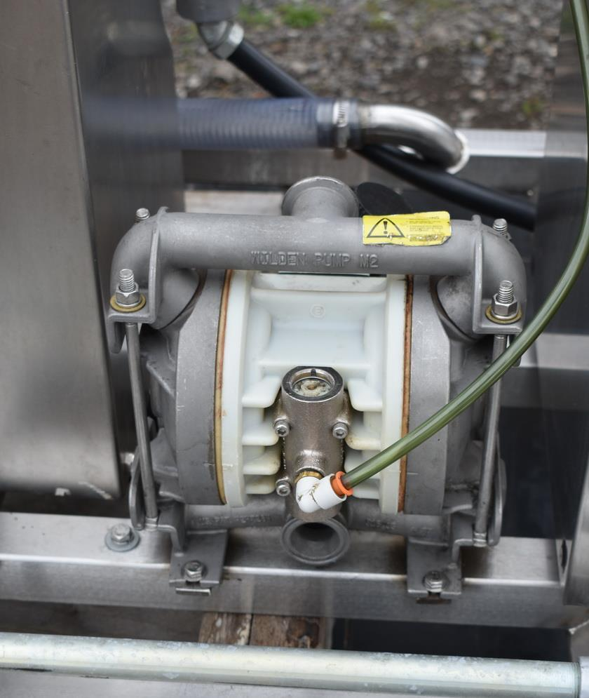 Image 50 Gallon MOLINE Jacketed Tank with Agitator, Diaphragm Pump and Immersion Heaters 1495626