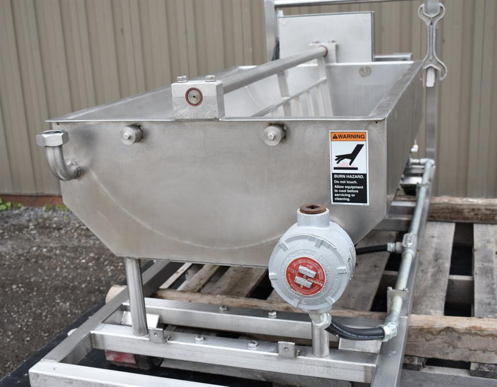 Image 50 Gallon MOLINE Jacketed Tank with Agitator, Diaphragm Pump and Immersion Heaters 1495627