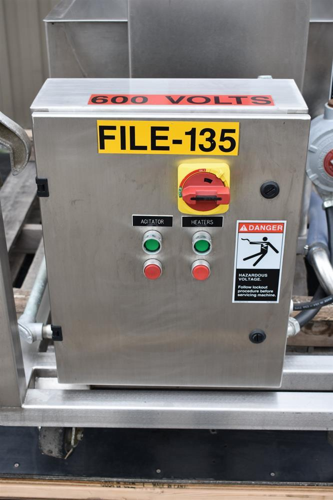 Image 50 Gallon MOLINE Jacketed Tank with Agitator, Diaphragm Pump and Immersion Heaters 1495631