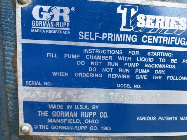 Image 20 HP GORMAN RUPP Pump 1495746