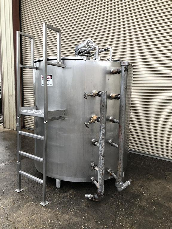 Image 1000 Gallon Jacketed Pasteurizer Process Tank with Sweep Agitation - Stainless Steel 1496586