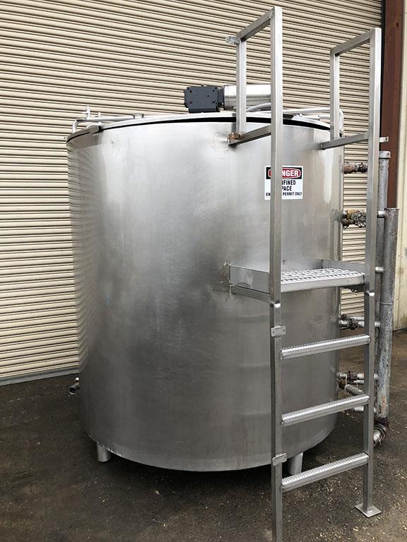 Image 1000 Gallon Jacketed Pasteurizer Process Tank with Sweep Agitation - Stainless Steel 1496587