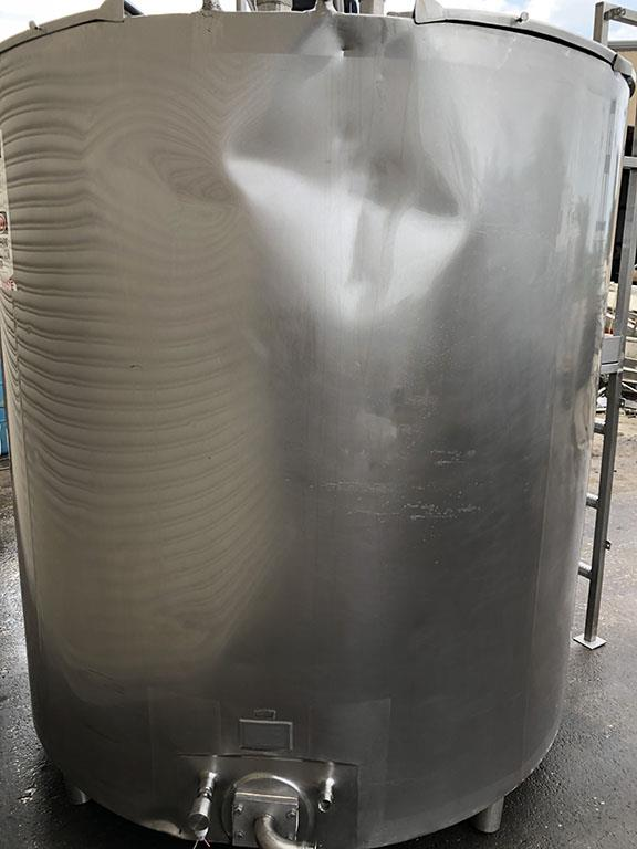 Image 1000 Gallon Jacketed Pasteurizer Process Tank with Sweep Agitation - Stainless Steel 1496588