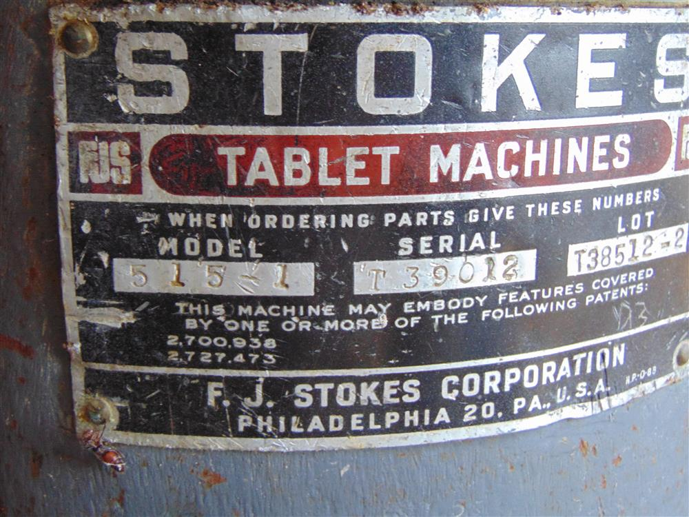 Image STOKES 15 Station Rotary Tablet Press 1499293