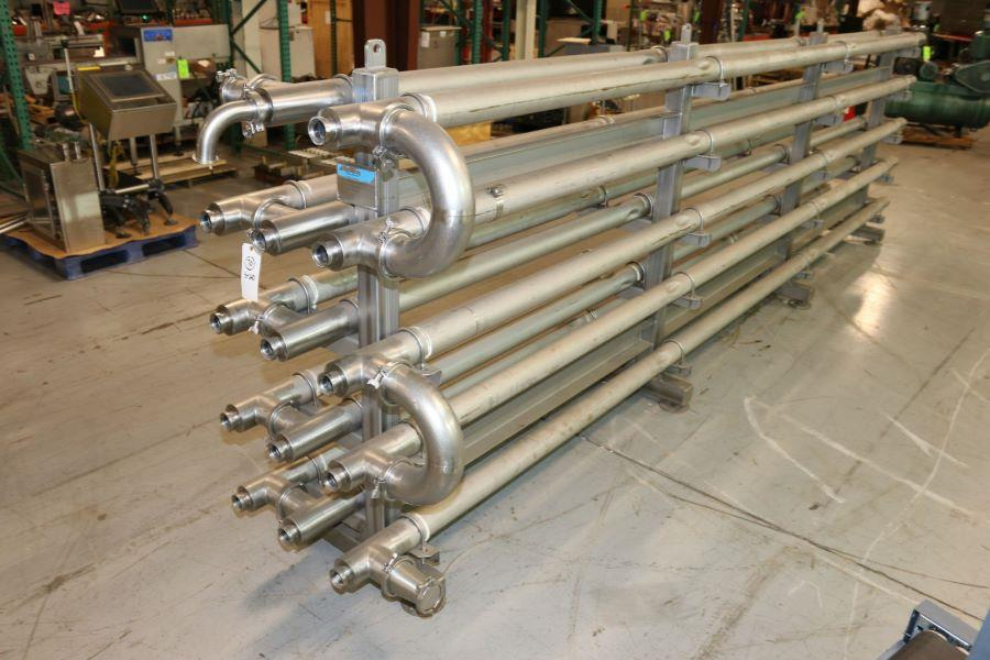 Image FRANRICA 14-Pass Dimpled Tube in Tube Heat Exchanger - Pasteurizer from Food Plant 1499355
