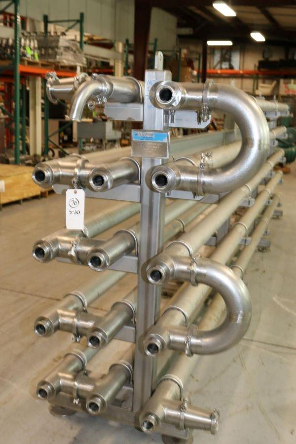Image FRANRICA 14-Pass Dimpled Tube in Tube Heat Exchanger - Pasteurizer from Food Plant 1499356